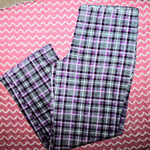 XL Pajama Pants WARM & FUZZY Purple Plaid